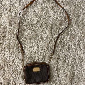 Brown crossbody MK purse